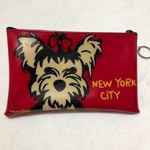 Marc Tetro Yorkie Vinyl Pouch With Key Ring